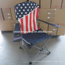 Outdoor Folding Camping Chair With American flag/Beach Chair With Flag Printing