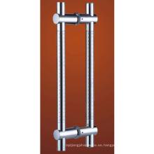 Material de acero inoxidable 304 H Cristal de forma Tirador de puerta Manija