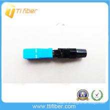 Ftth conector rápido de fibra óptica, rápido conector de montagem SC / UPC conector rápido tipo de parafuso