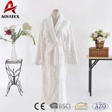 Günstigen Preis 100% Polyester weißen Flanell Fleece festen Bademantel