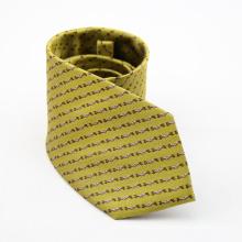 Cravate de cravate d'affaires d'hommes cravate blanche d'hommes de polyester de rayure