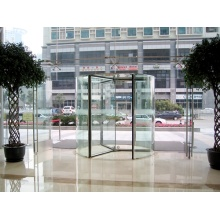 All Glass Automatic Revolving Doors with Breakout Function