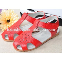 Soft solid children sandals kids shoes hollow out