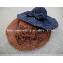 100% algodão moda senhora bucket hat