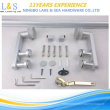 Fábrica de China que corta el hardware de la puerta de granero / la pista y las ruedas de aluminio de la puerta deslizante