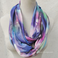 Women′s Stary Night Outer Space Printing Super Soft Woven Scaf Loop Snood (SW134)