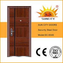 Iron Grill Door Designs Metal Door Skin China Steel Door Low Prices (SC-S049)
