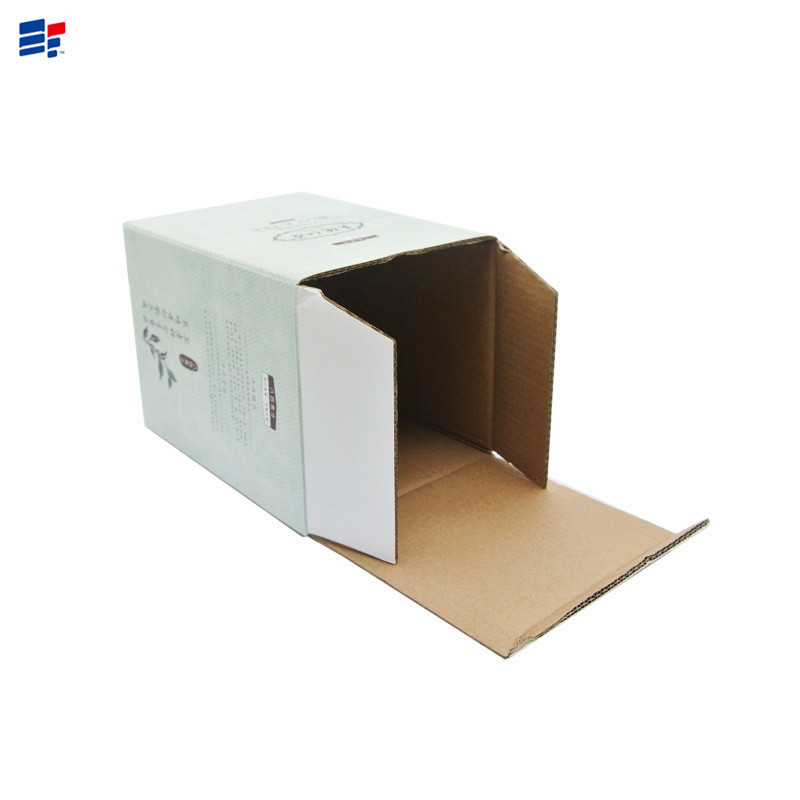Small corrugated packaging box for tea