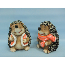 Hedgehog Shape Ceramic Crafts (LOE2531-C13)