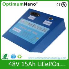 Batería al por mayor de la vespa de LiFePO4 48V 15ah con BMS