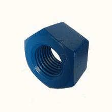 Tuerca hexagonal pesada Ptfe de acero al carbono A194