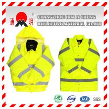 Veste réfléchissante rouge avec bandes rétro-réfléchissantes (vest-1)