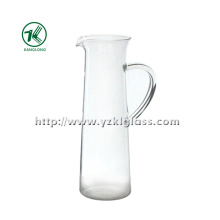 Théière en verre à paroi simple et transparente par SGS (8 * 8.5 * 26.5)