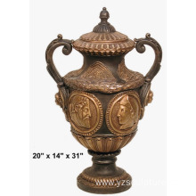 Luxurious Artwork Cast Metal Antique Copper Vases