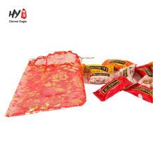 sac d'organza personnalisé avec ruban pour cadeaux de mariage faveurs