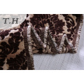 2017 Large Jacquard Fabric Chenille Fabric Brown Flowers Made in Chinese Manufactory