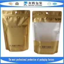 Встаньте прозрачный ламинированный пищевой мешочек с замком на молнию / пластиковый пакет для упаковки с Ziplock.