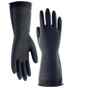Long Cuff Household Latex Rubber Kitchen Cleaning Gloves