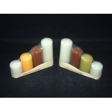 Umbrella Top Set of 4 Pillar Candle