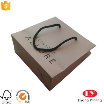 Matte personalizado saco de presente de papel para jóias