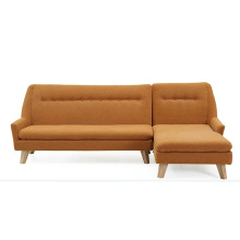 Home Design Living Room Fabric Sofa Set with Solid Wood Leg