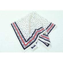 2020 new large square stain scarves black point print border design brand scarf
