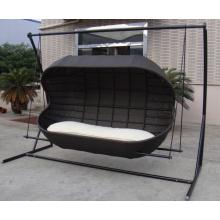 Patio extérieur Double chaise balançoire lit Lounge