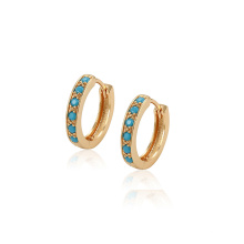 97405 xuping fashion 18K gold color synthetic zircon delicate ladies hoop Earrings