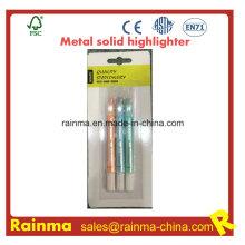 Metal color sólido resaltador para la fuente de papelería