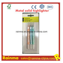 Metal Color Solid Highlighter for Stationery Supply