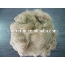 Cheveux de chien couleur brune naturelle avec usine en gros prix