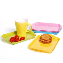 (BC-TM1010) Hot-Sell High quality Reusable Colorful Melamine Serving Tray