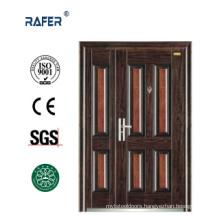 Four Panel Mother Son Steel Door (RA-S140)