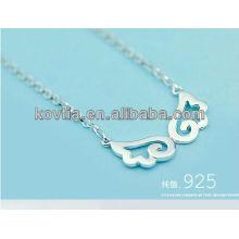 El ángel de la plata esterlina 925 se va volando el collar para las muchachas