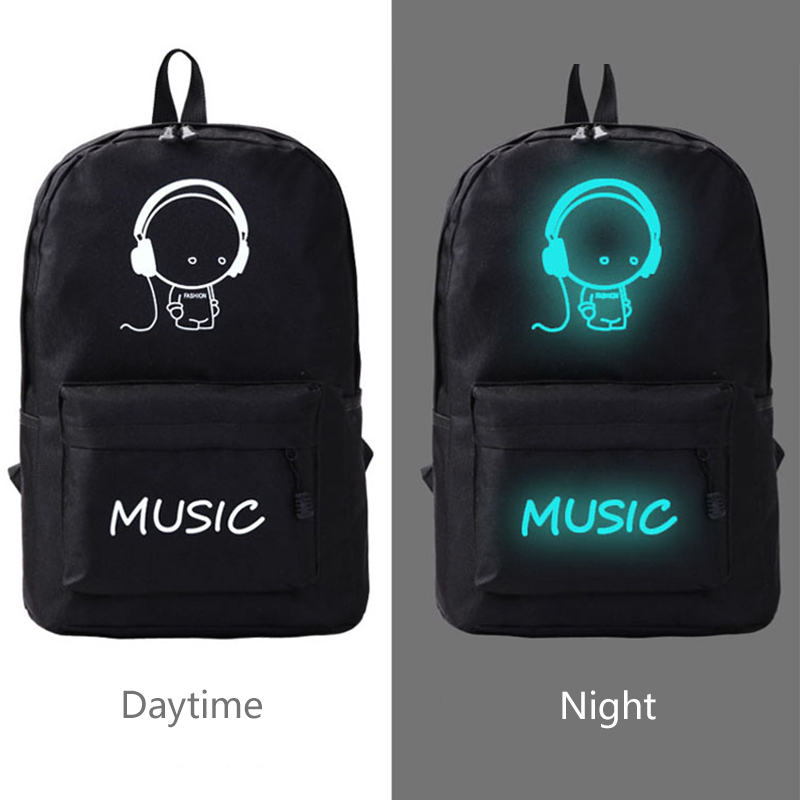 Luminous shoulder backpack for students