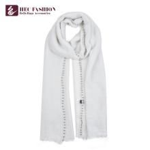 Écharpe de polyester de logo faite sur commande de fabricant de HEC pour de belles femmes