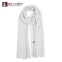 HEC Manufacturer Custom Logo Polyester Scarf For Beautiful Women