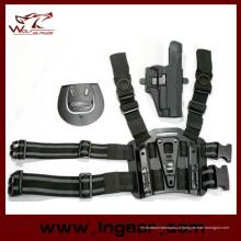Caça tático Airsoft gota coldre de perna com Mag titular para P220/P226