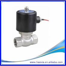 Material de Aço Inoxidável Válvula solenóide de vapor operada por piloto de 2/2 vias, 12V, 24V, 110V, 220V, 380V
