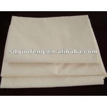tela de algodón gris crudo