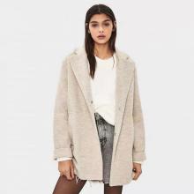 Plain Double-Sided Woolen Coat Women For Ladies