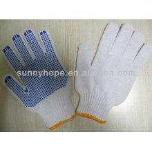 Перчатки из ПВХ с точечной ладонью