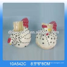 Держатель зубочистки керамического петушка хорошего качества для кухни