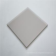 Folha de policarbonato sólido cinza brilhante de 3 mm