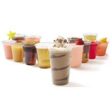 Copo de chá plástico descartável do leite do produto comestível