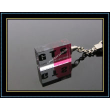 Color Printing Crystal Keychain for Promotion Gift (kc12)