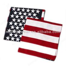 Bandera de los Estados Unidos de la moda barata Bandanas cuadradas del algodón de la impresión promocional de encargo
