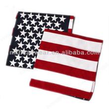 Mode Cheap US Flag Impression promotionnelle sur mesure Cotton Square Bandanas