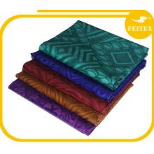 Feitex 5 Yardas / bolsa FEITEX Abaya Bordado Diseños Ropa Africana Calidad Normal 100% Algodón Tejido de punto Bazin Brocade