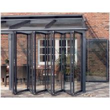 Nes Design Type de pliage Double porte vitrée en aluminium glacé